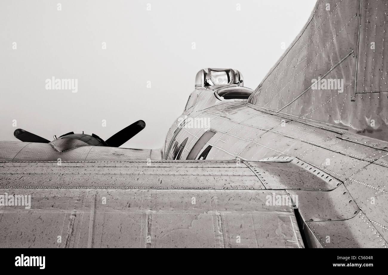 B-17 at an airshow, Arkansas, USA - Stock Image
