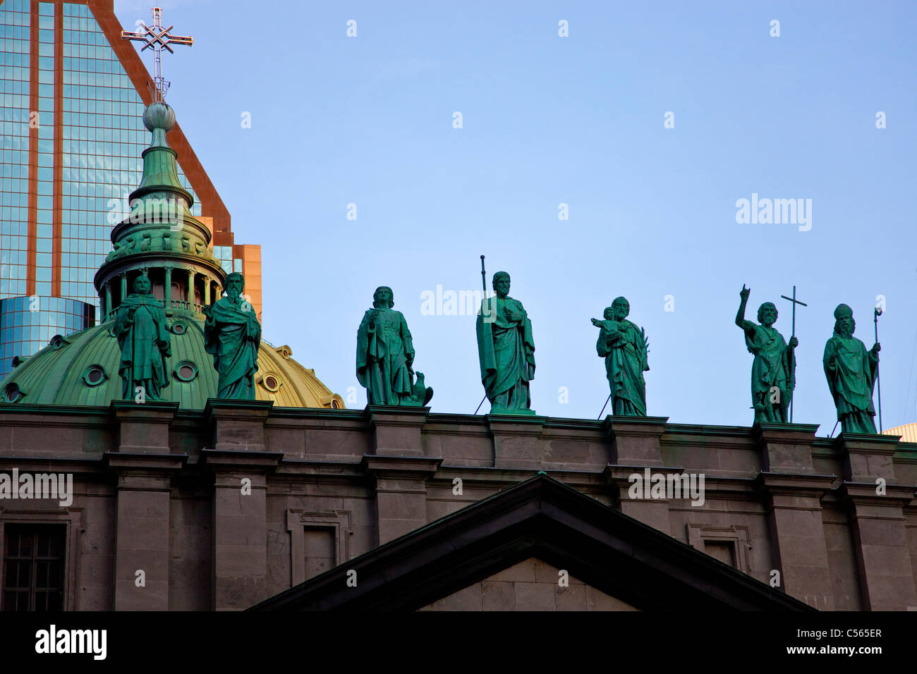 Roman Catholic Cathedral-Basilica of Mary, Queen of the World, Montreal, Quebec, Canada - Stock Image