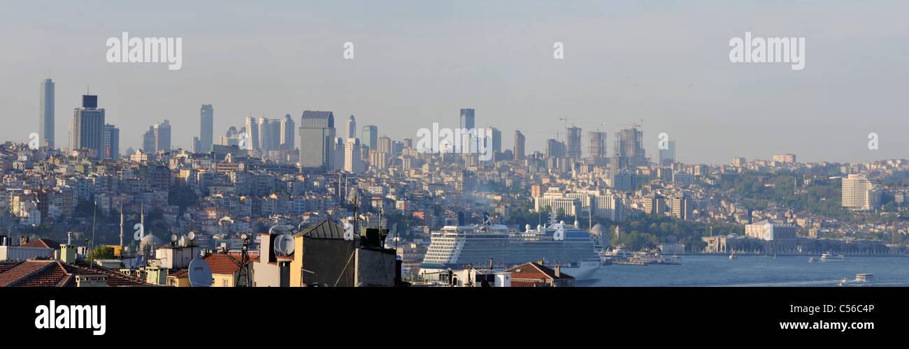 Panoramic view of İstanbul skylines,Turkey - Stock Image