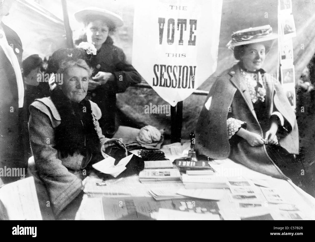 Suffragette meeting - Stock Image
