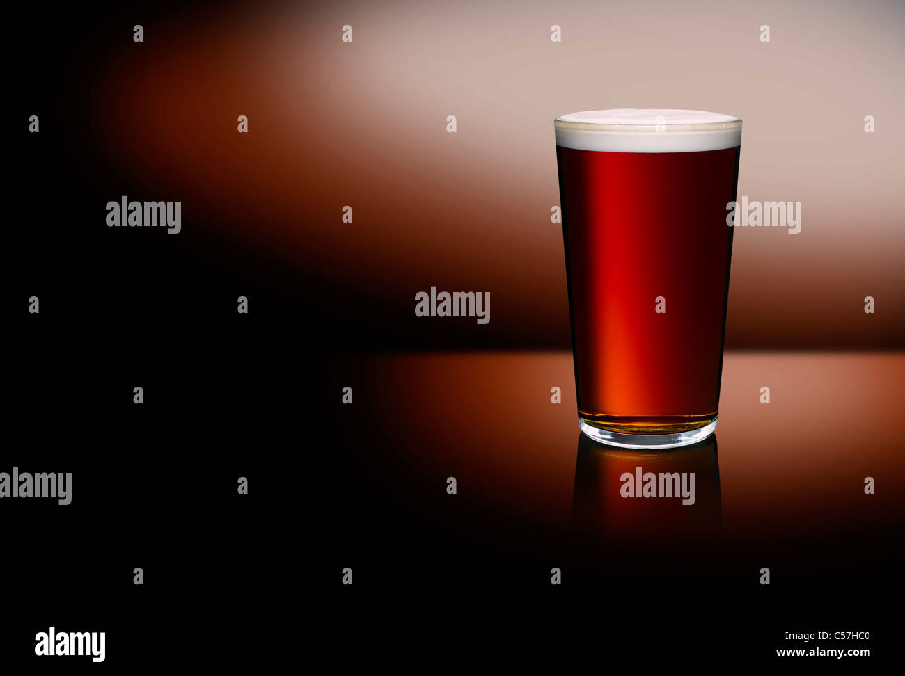 A pint of beer - Stock Image