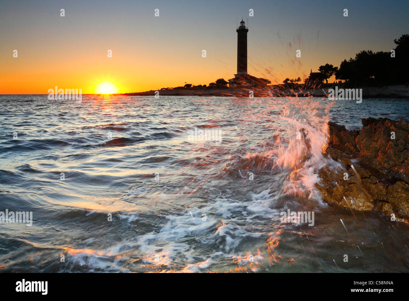 Lighthouse Veli Rat - Stock Image
