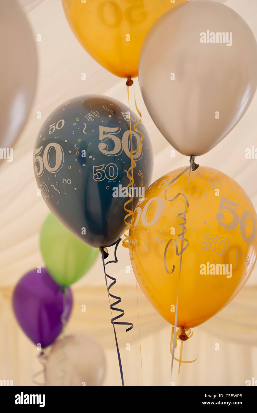 50th Birthday Balloons Stock Photo 37755715