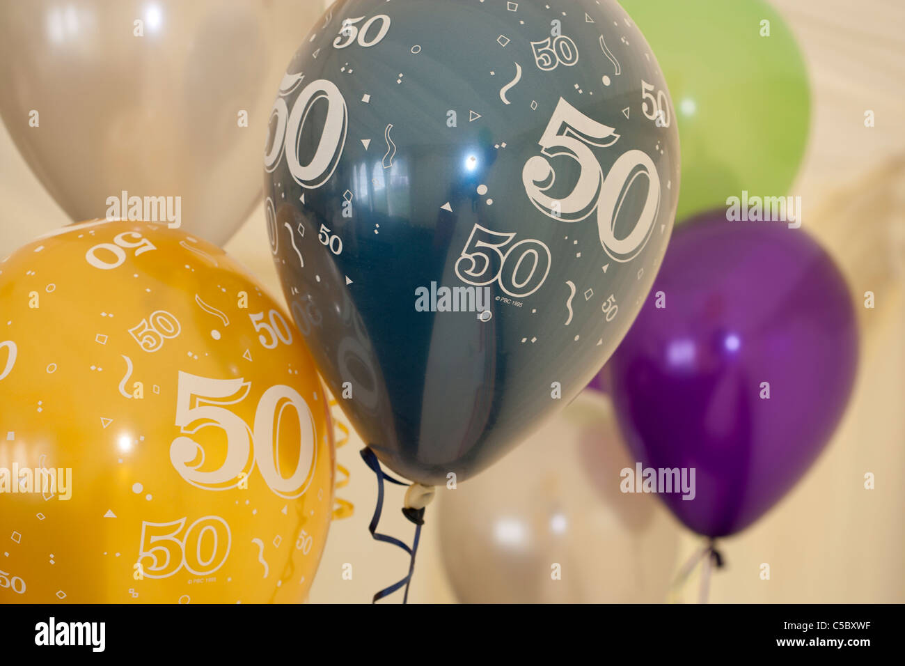 50th Birthday Balloons Stock Photo 37756587