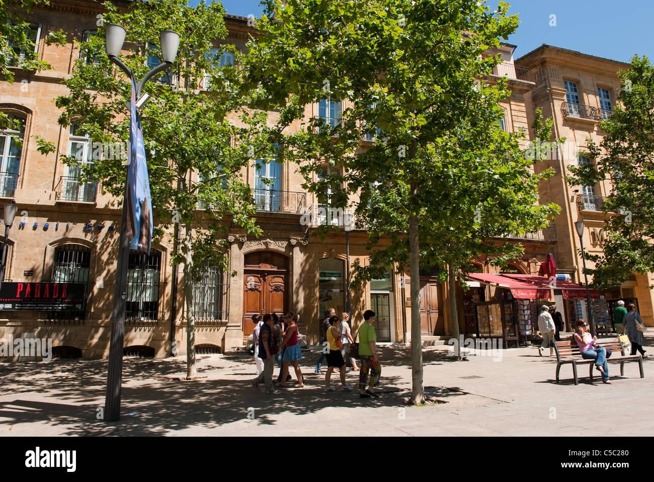 Cours de Mirabeau in Aix-en-Provence - Stock Image
