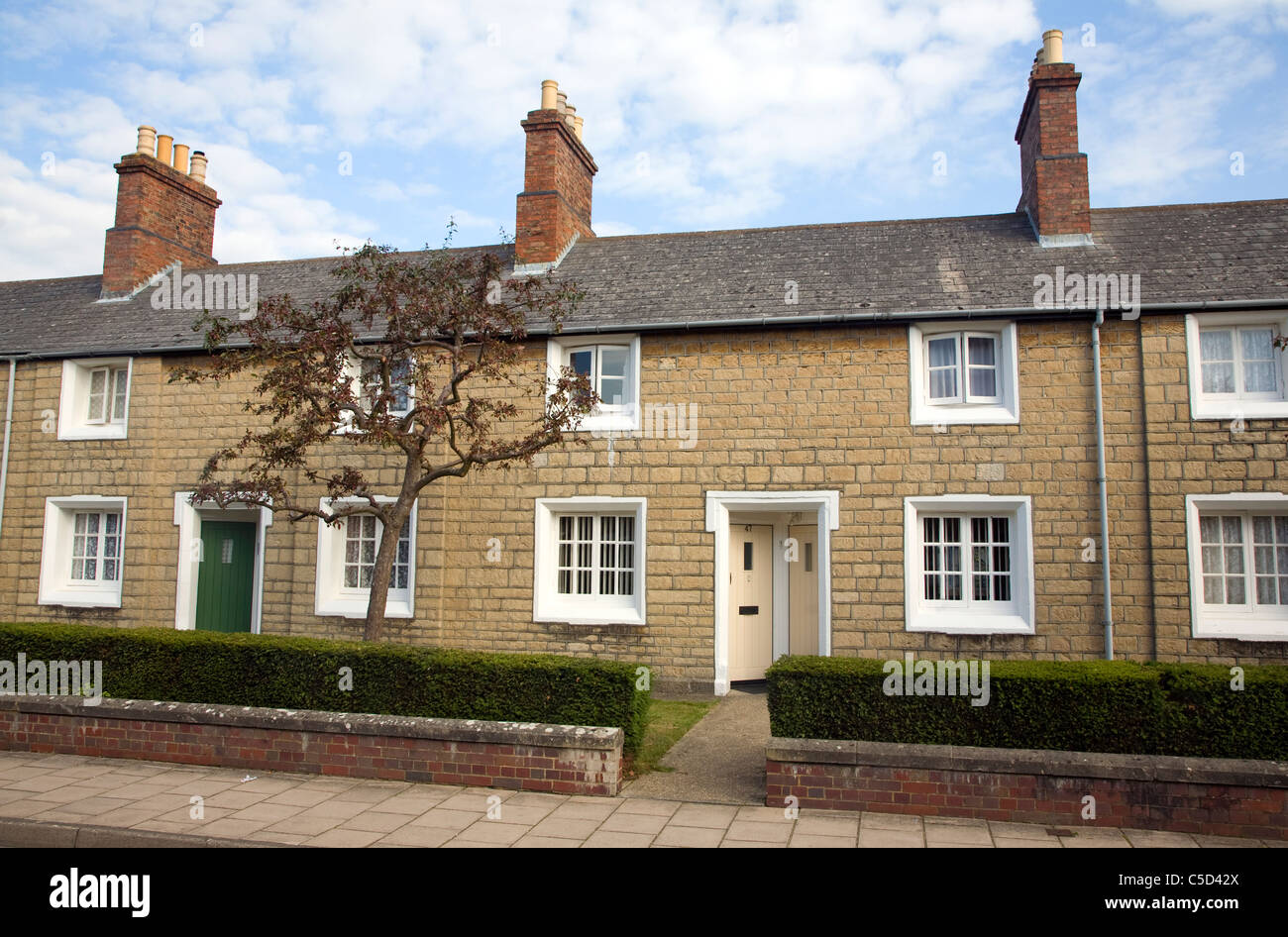 The Railway Village built by GWR to house workers in the 1840s, Swindon, England Stock Photo