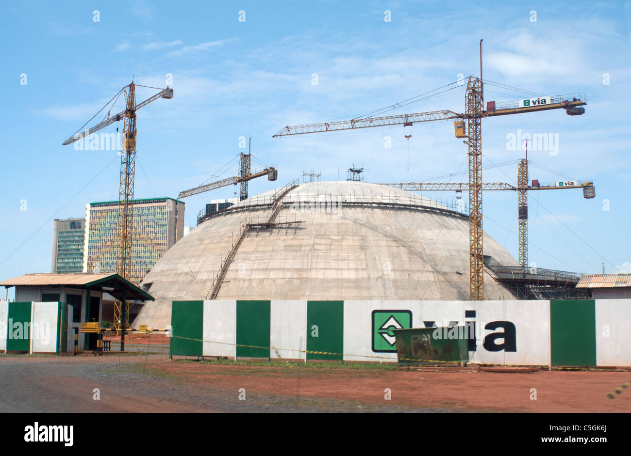 Museu da República, Brasilia, Brazil, under construction (National Museum of the Republic) Stock Photo