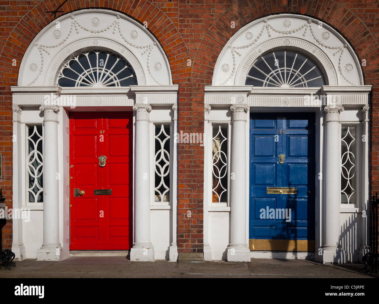 Typical Georgian doors in Dublin Ireland & Typical Georgian doors in Dublin Ireland Stock Photo: 37907814 - Alamy