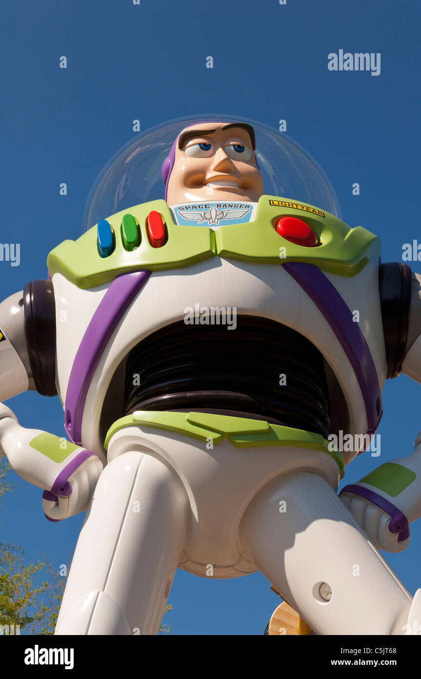 Buzz lightyear in Toy Story Playland at the Walt Disney Studios park at Disneyland Paris in France - Stock Image