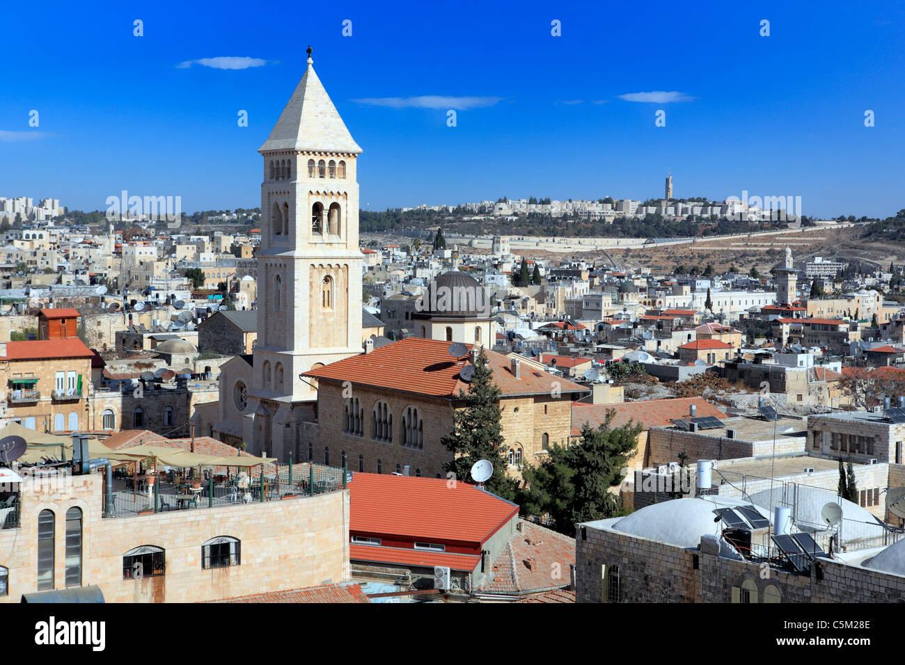 Syrian church of St. Mark (12th century), Jerusalem, Israel - Stock Image