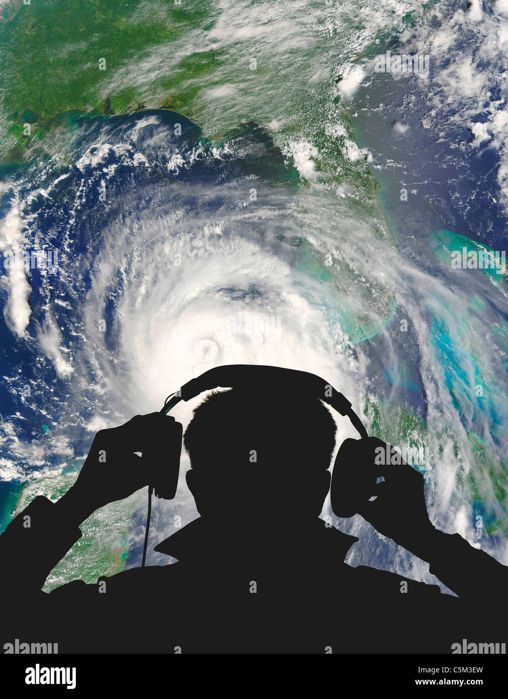 Hurricane Katrina weather engineer Stock Photo