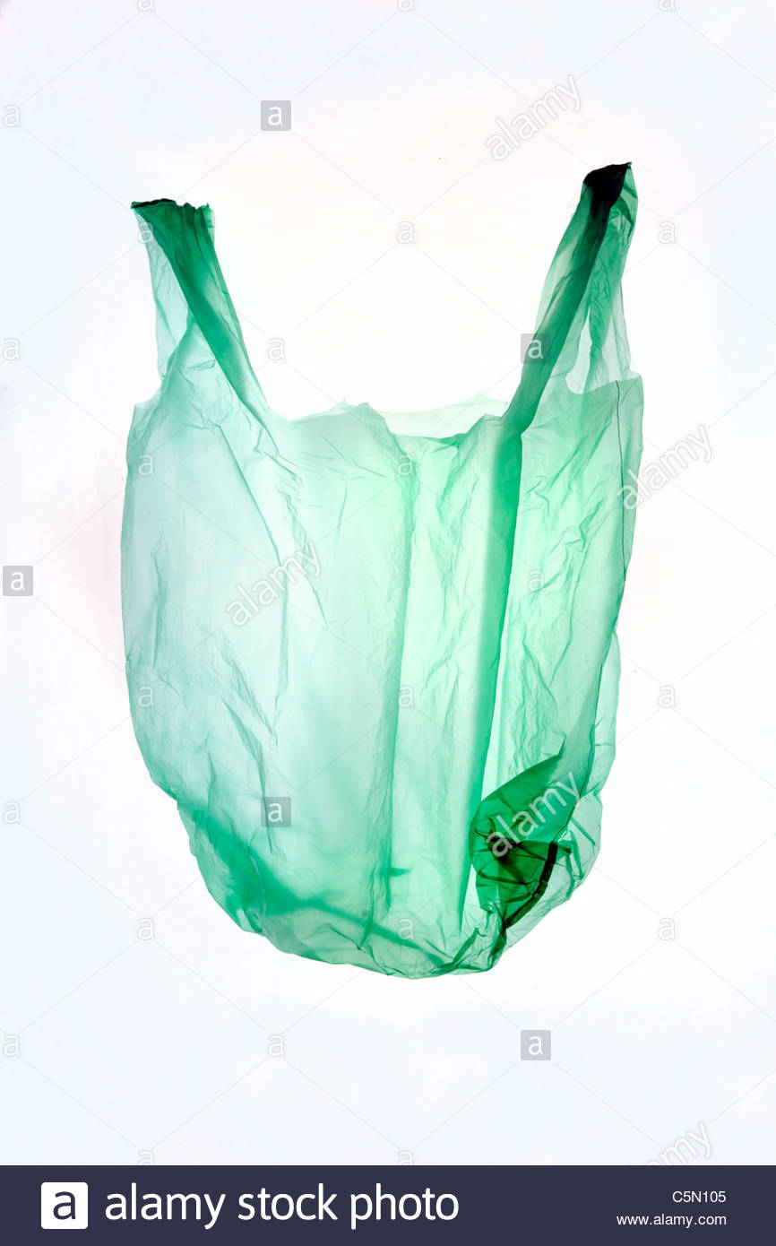 a thin plastic grocery bag - Stock Image