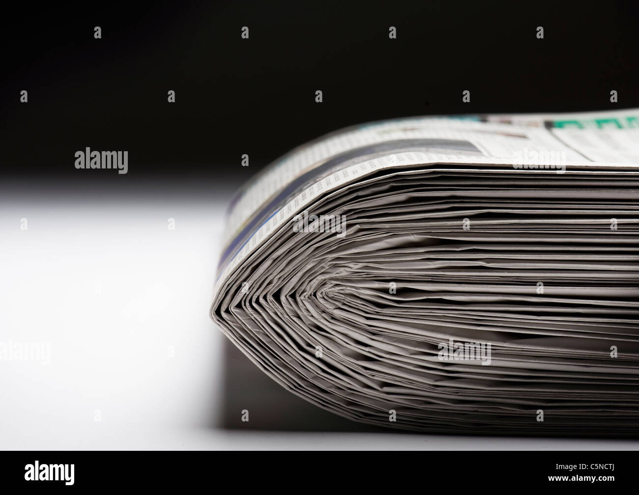A pile of newspapers - Stock Image