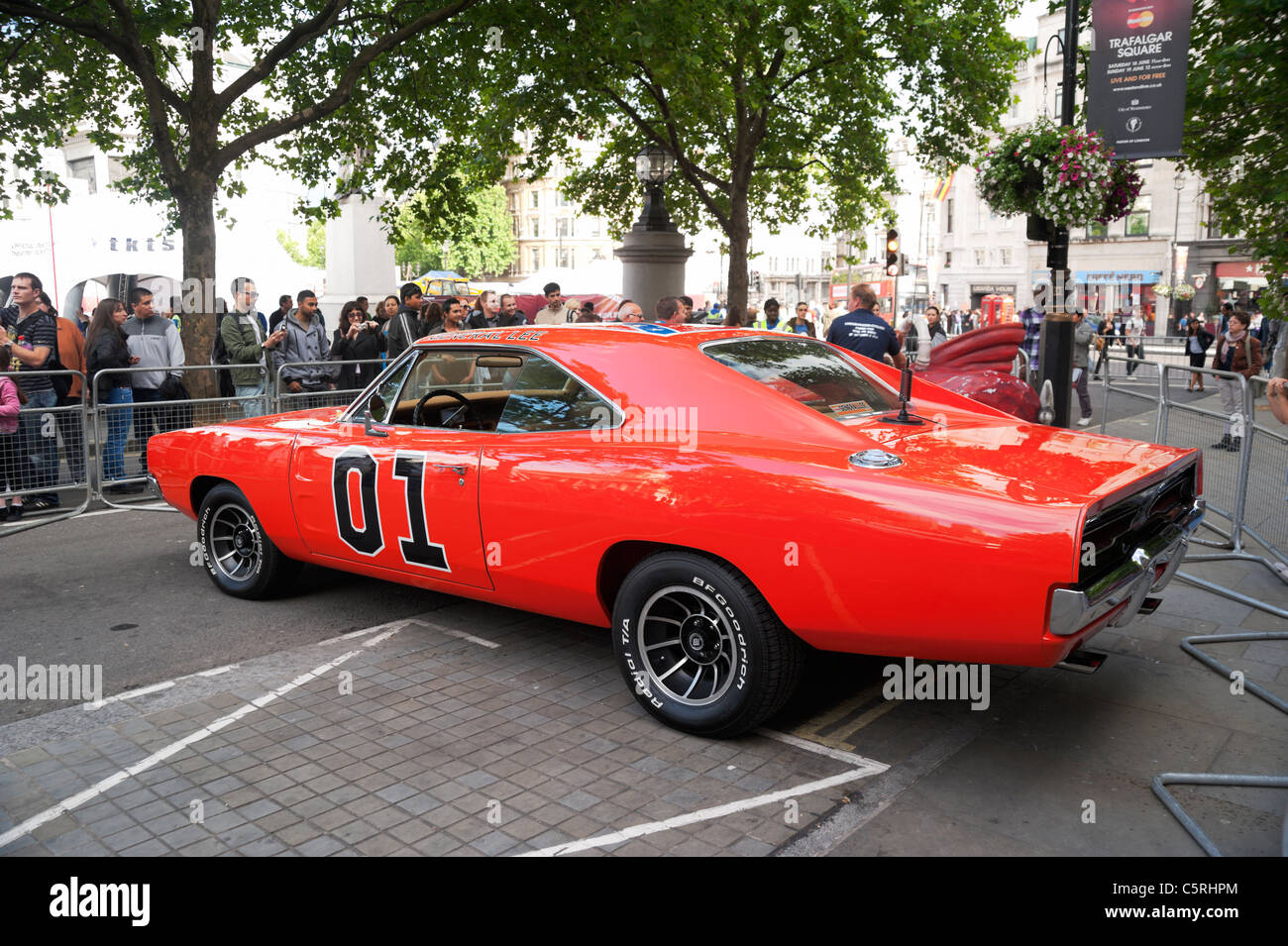 London, UK, General Lee car from The Dukes of Hazzard TV series and ...