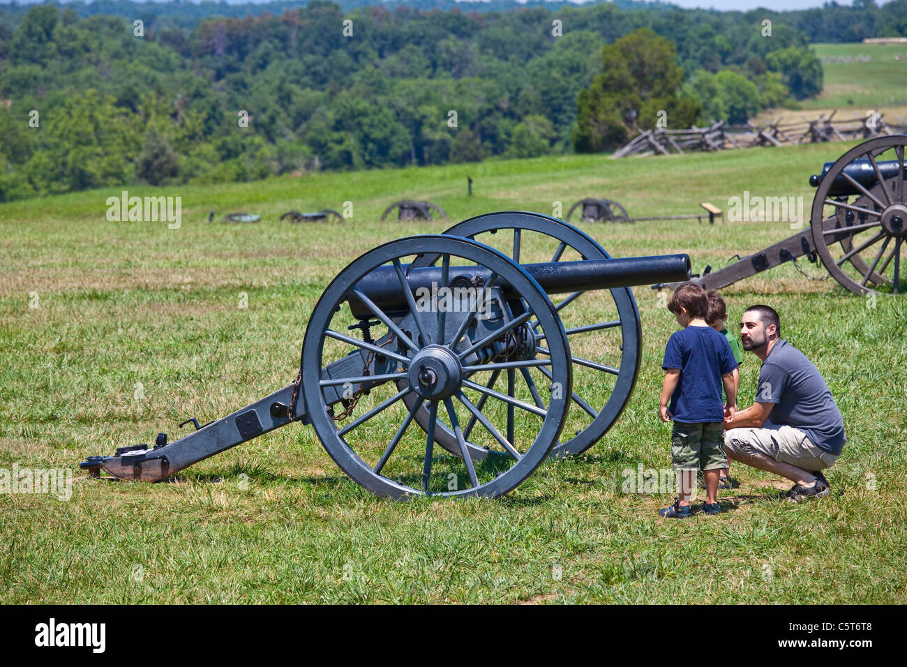 Manassas Junction or Bull Run Battleground Civil War site, Virignia, USA - Stock Image
