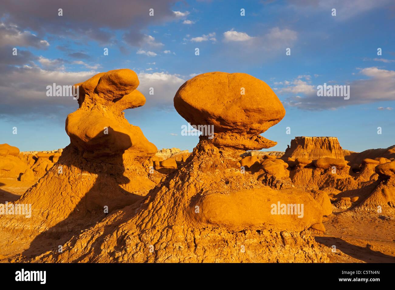 USA, Utah, Goblin Valley, San Rafael Swell, Rock formations - Stock Image