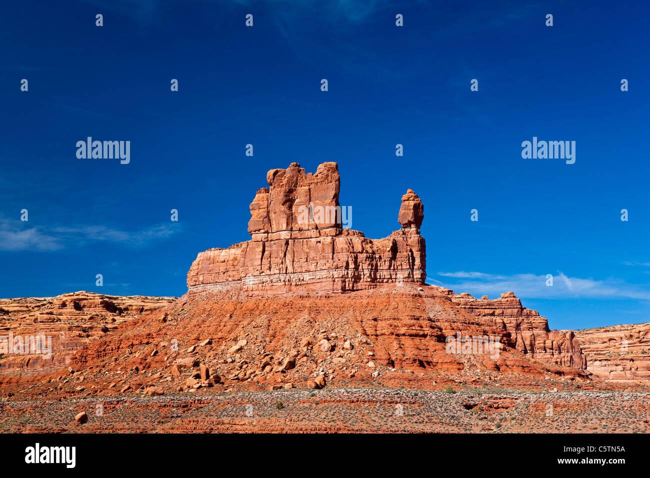 USA, Utah, Valley of the Gods, Desert scenery - Stock Image