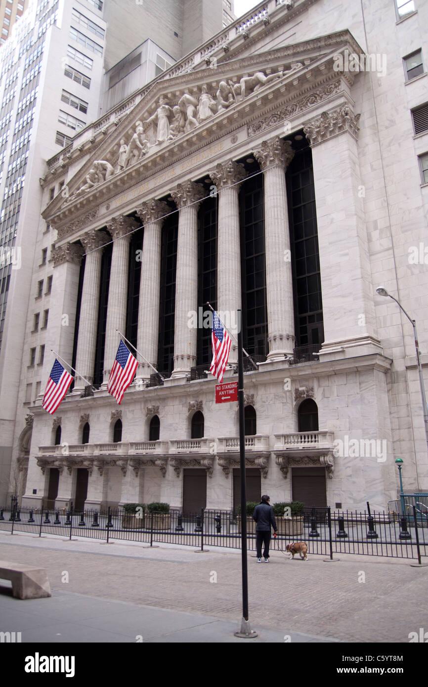 Wall Street, New York. - Stock Image