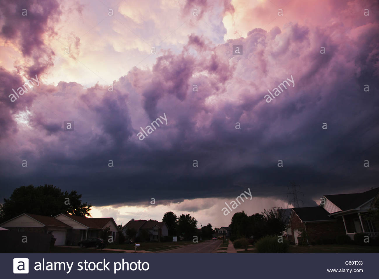 Storm Clouds, Columbus, Indiana - Stock Image