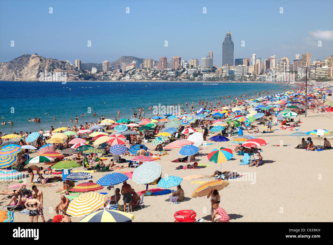 Popular Holiday Resort of Benidorm in Spain Stock Photo
