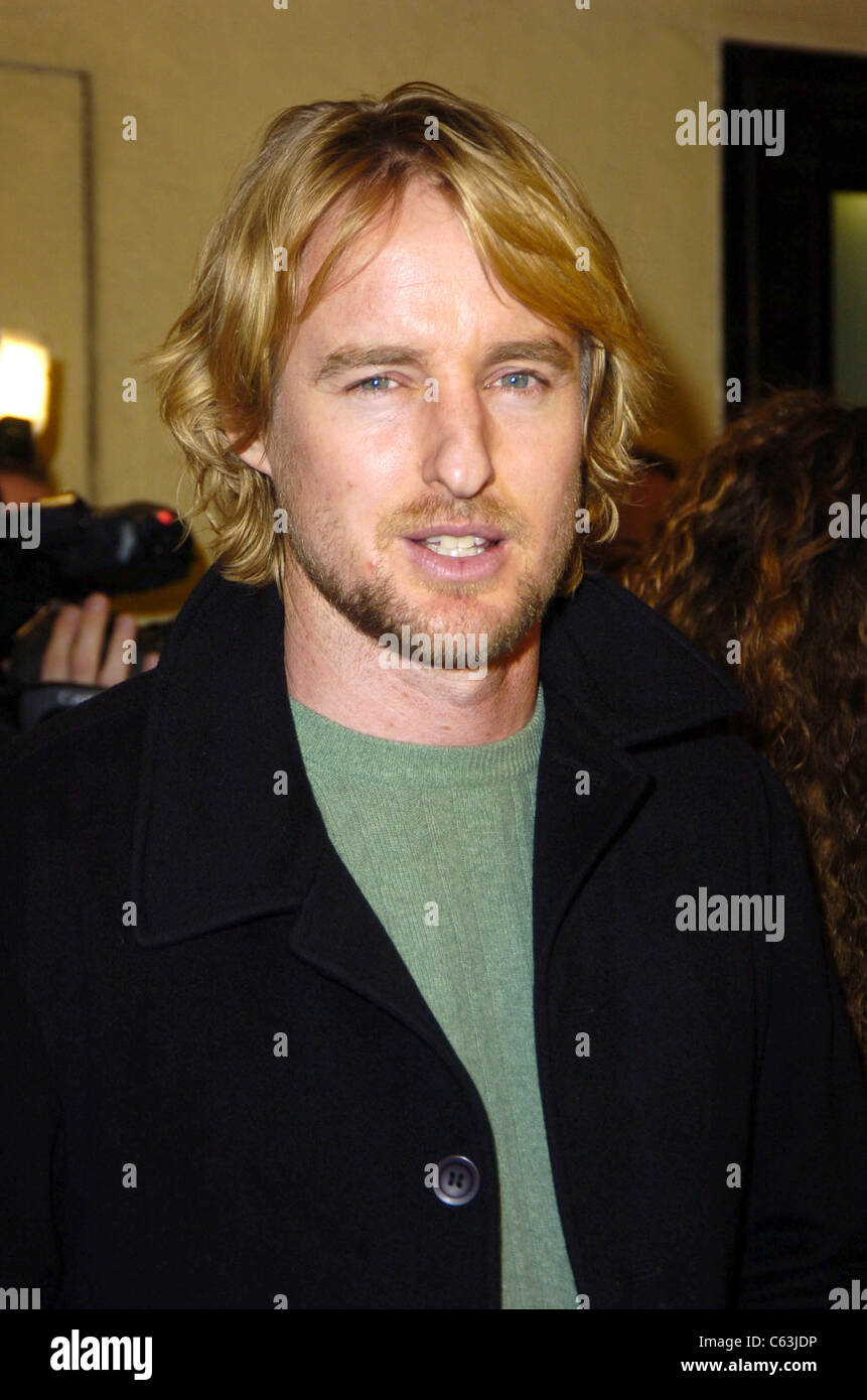 Owen Wilson at the premiere of FLIGHT OF THE PHOENIX, Los Angeles, CA, December 15, 2004. (Photo by:Michael Germana - Stock Image