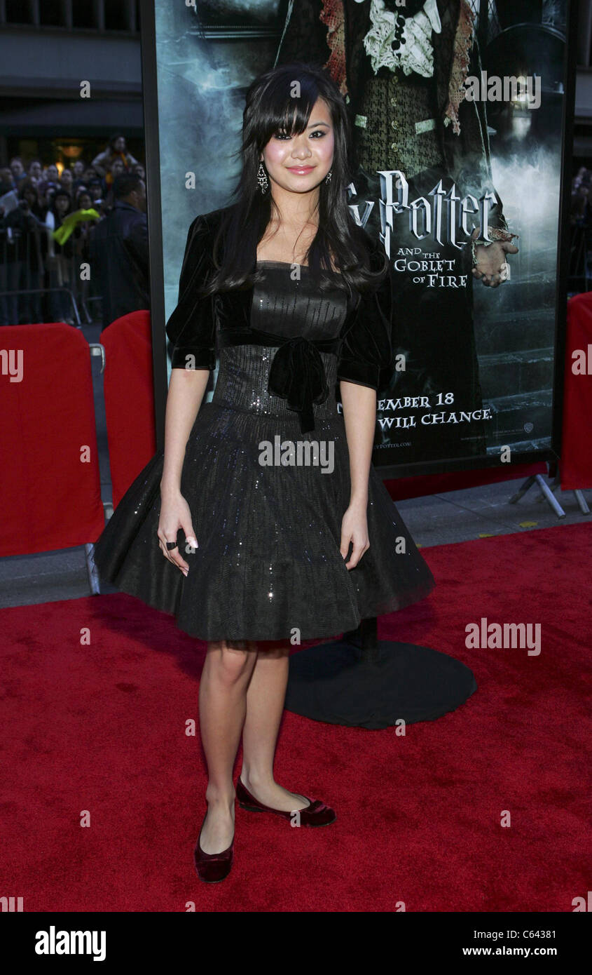 Katie Leung at arrivals for HARRY POTTER AND THE GOBLET OF FIRE Premiere, The Ziegfeld Theatre, New York, NY, Saturday, - Stock Image