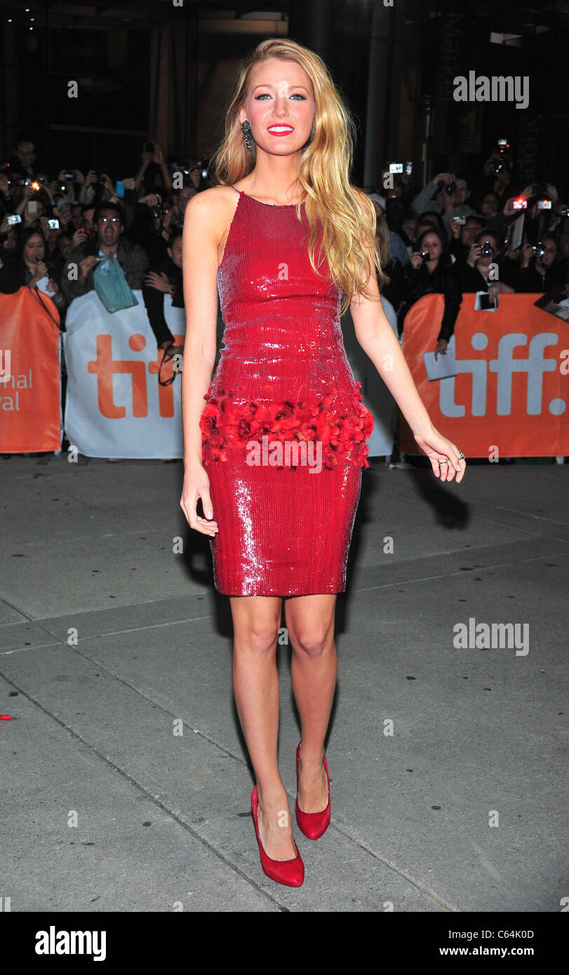 Blake Lively (wearing a Chanel dress and Louboutin shoes) at ...