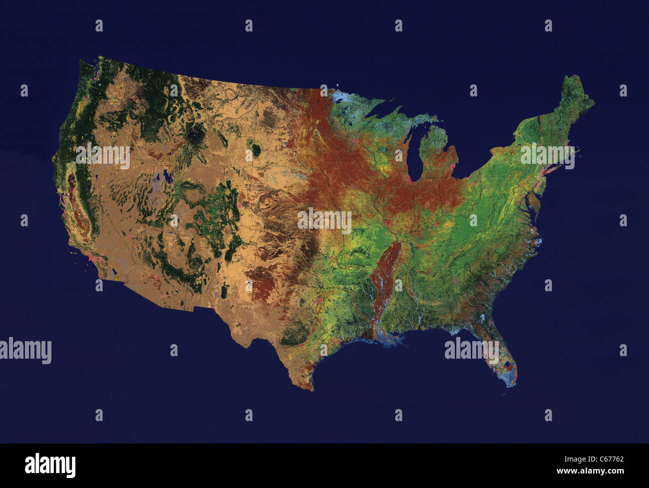 United States Map Topographic.Topographic Relief Map Of The 48 Contiguous States Of The United