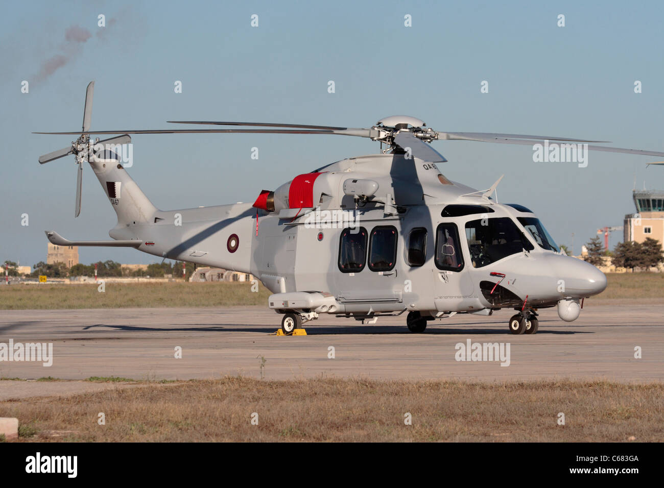 AgustaWestland AW139 helicopter of the Qatar Emiri Air Force - Stock Image