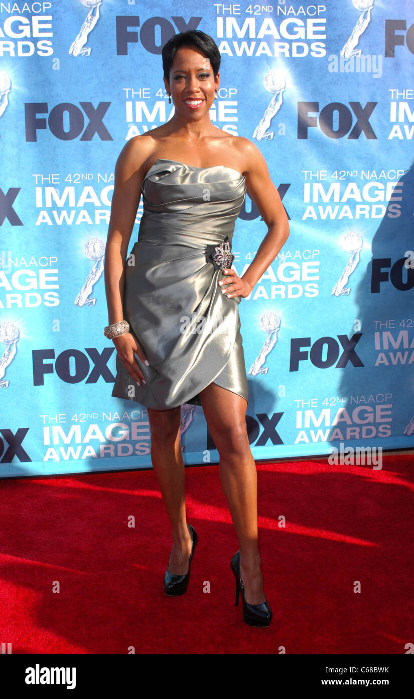 Regina King At Arrivals For 42nd Naacp Image Awards Shrine Stock
