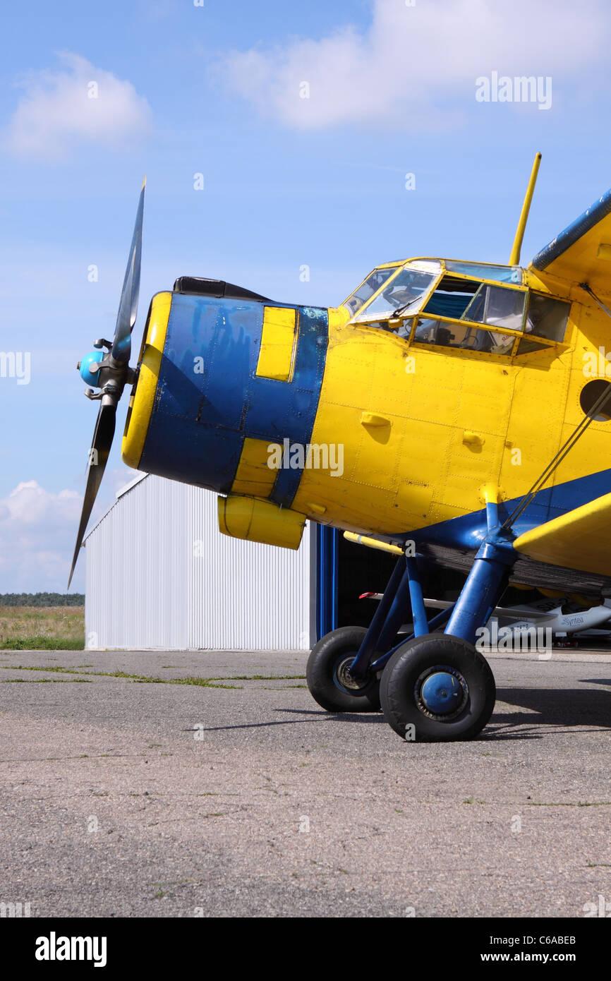 Antonov An-2 classic vintage biplane aircraft - Stock Image