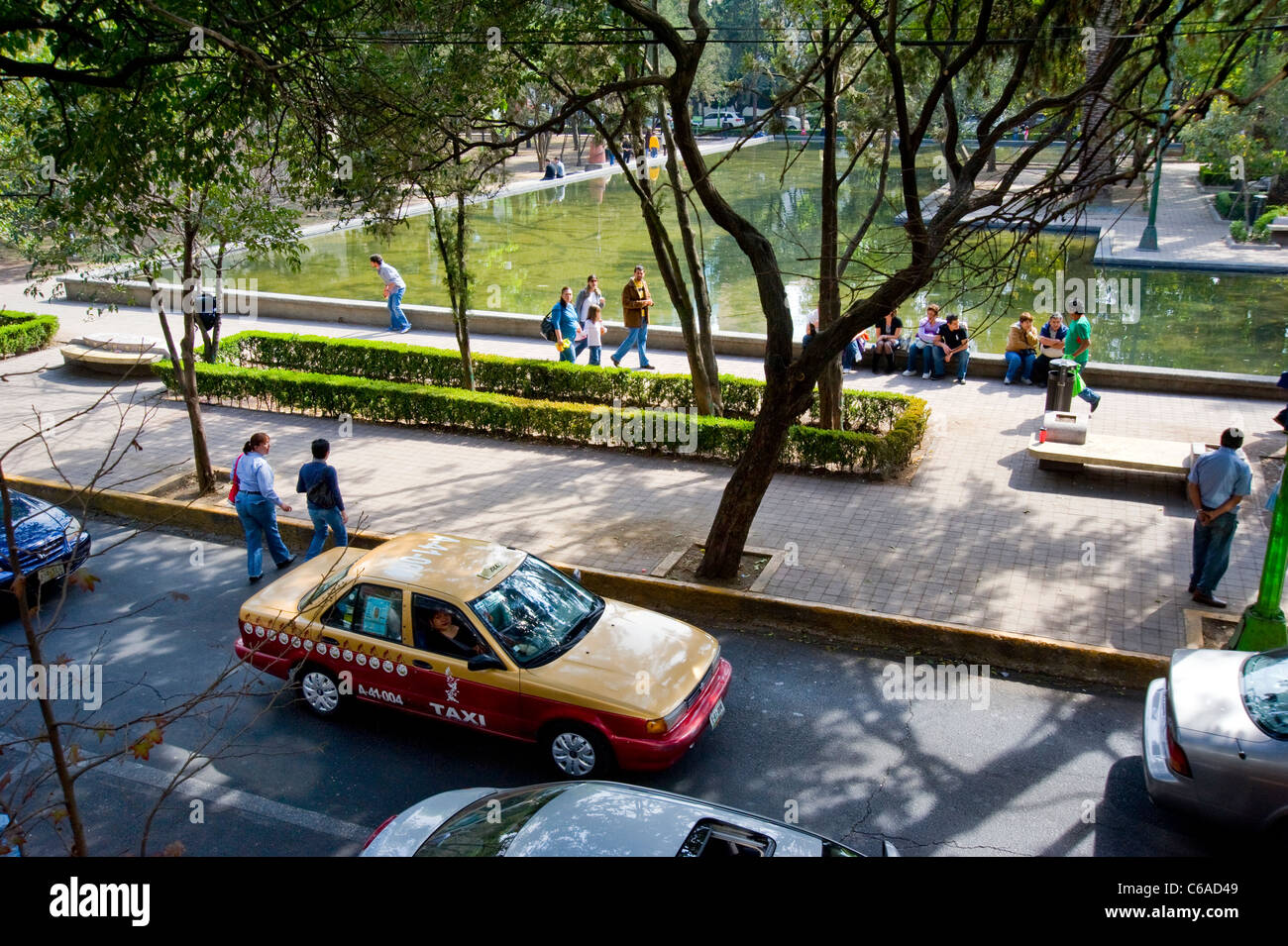 Lincoln Park in Mexico City - Stock Image