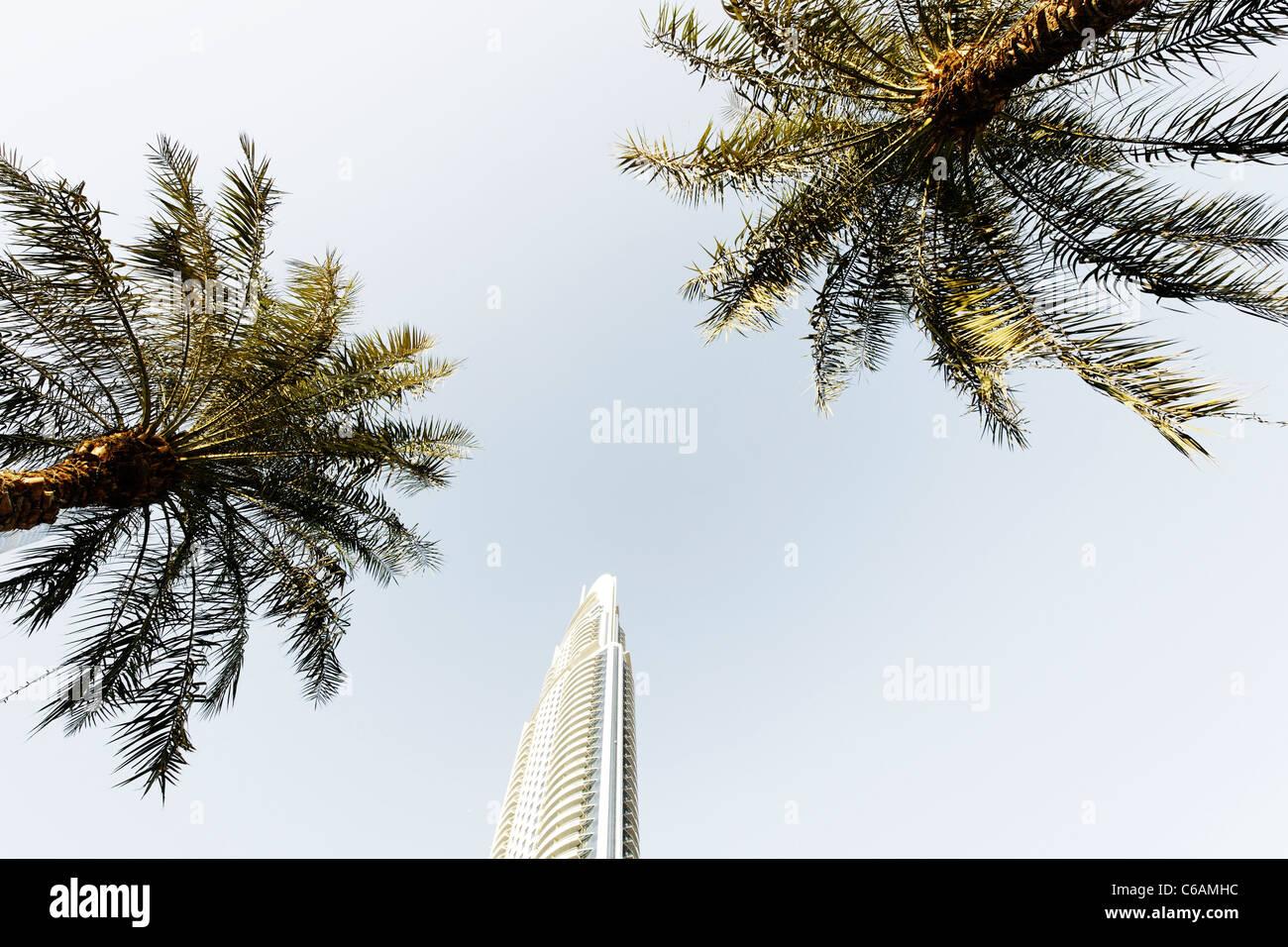Burj Khalifa, the tallest building in the world, 828m high, Downtown Dubai, Dubai, United Arab Emirates, Middle - Stock Image