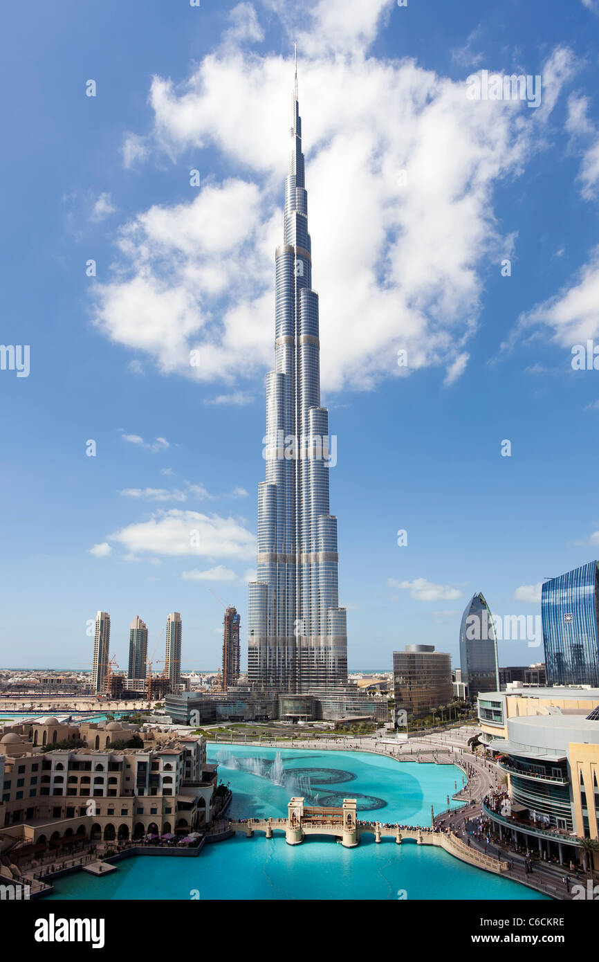 The Burj Khalifa, completed in 2010, the tallest man made structure in the world, Dubai, UAE Stock Photo