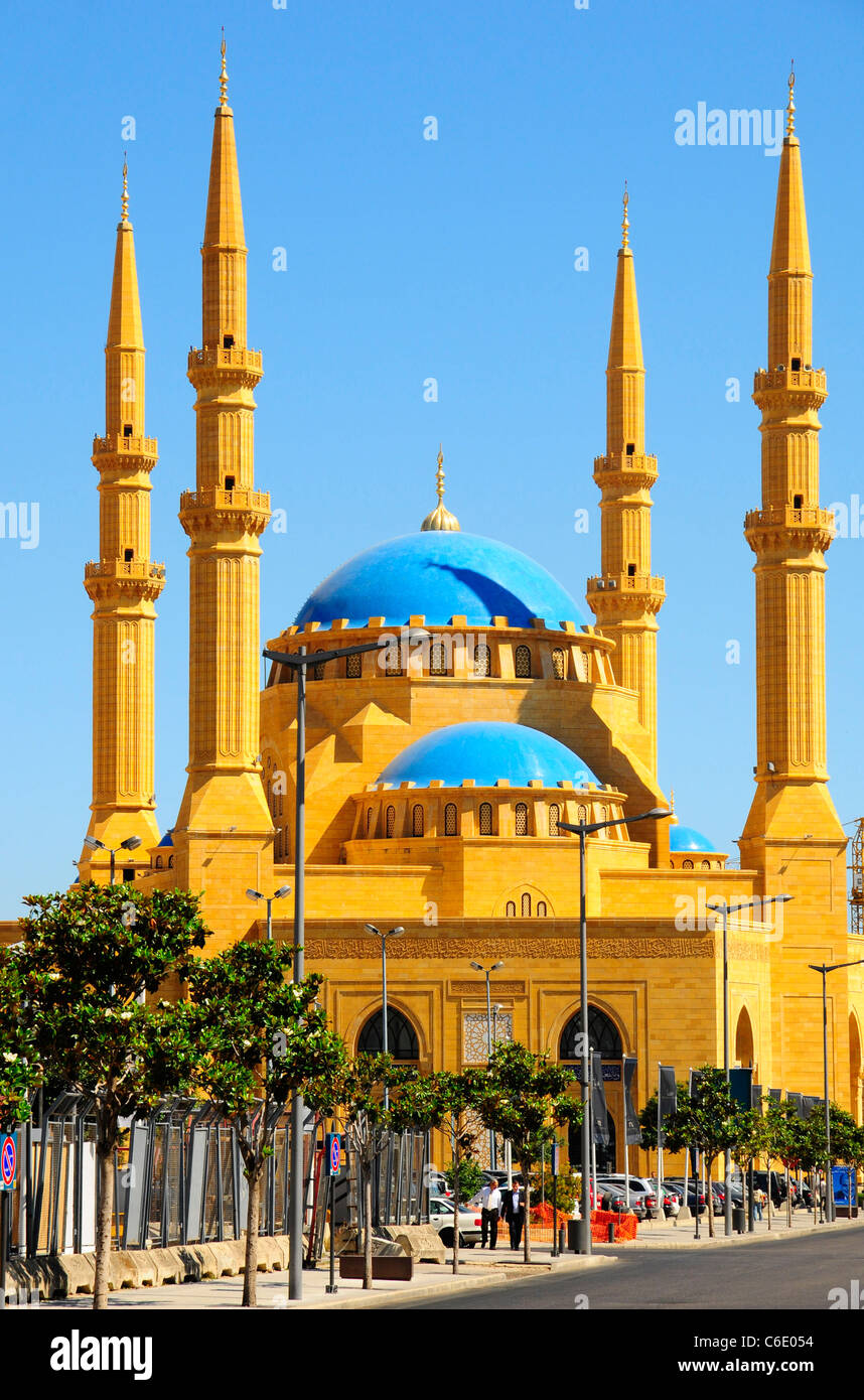 The Mohammad Al Amin Mosque at Martyr's Square. Beirut. Lebanon. - Stock Image