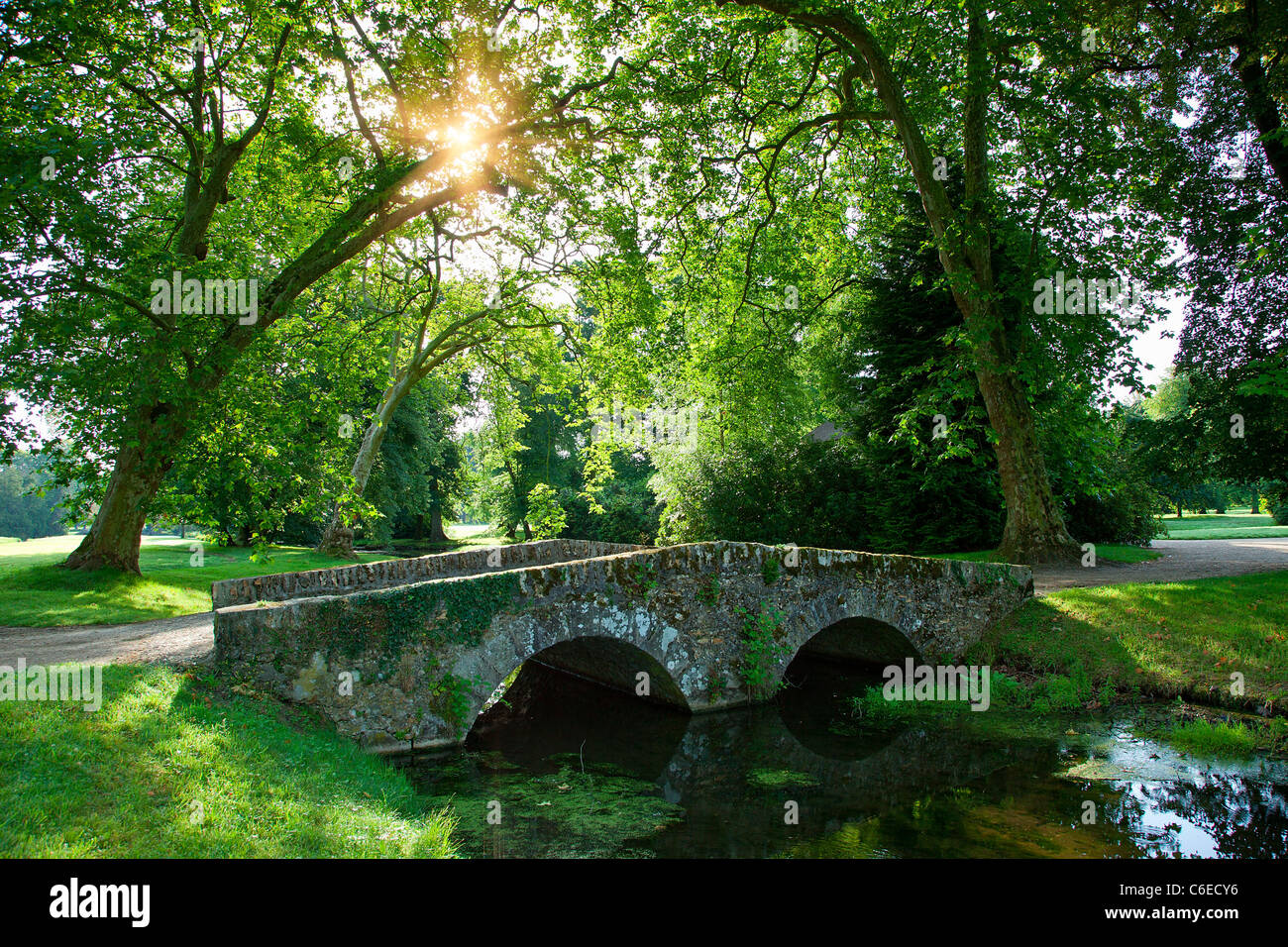 Chateau de Rambouillet, The English Garden - Stock Image