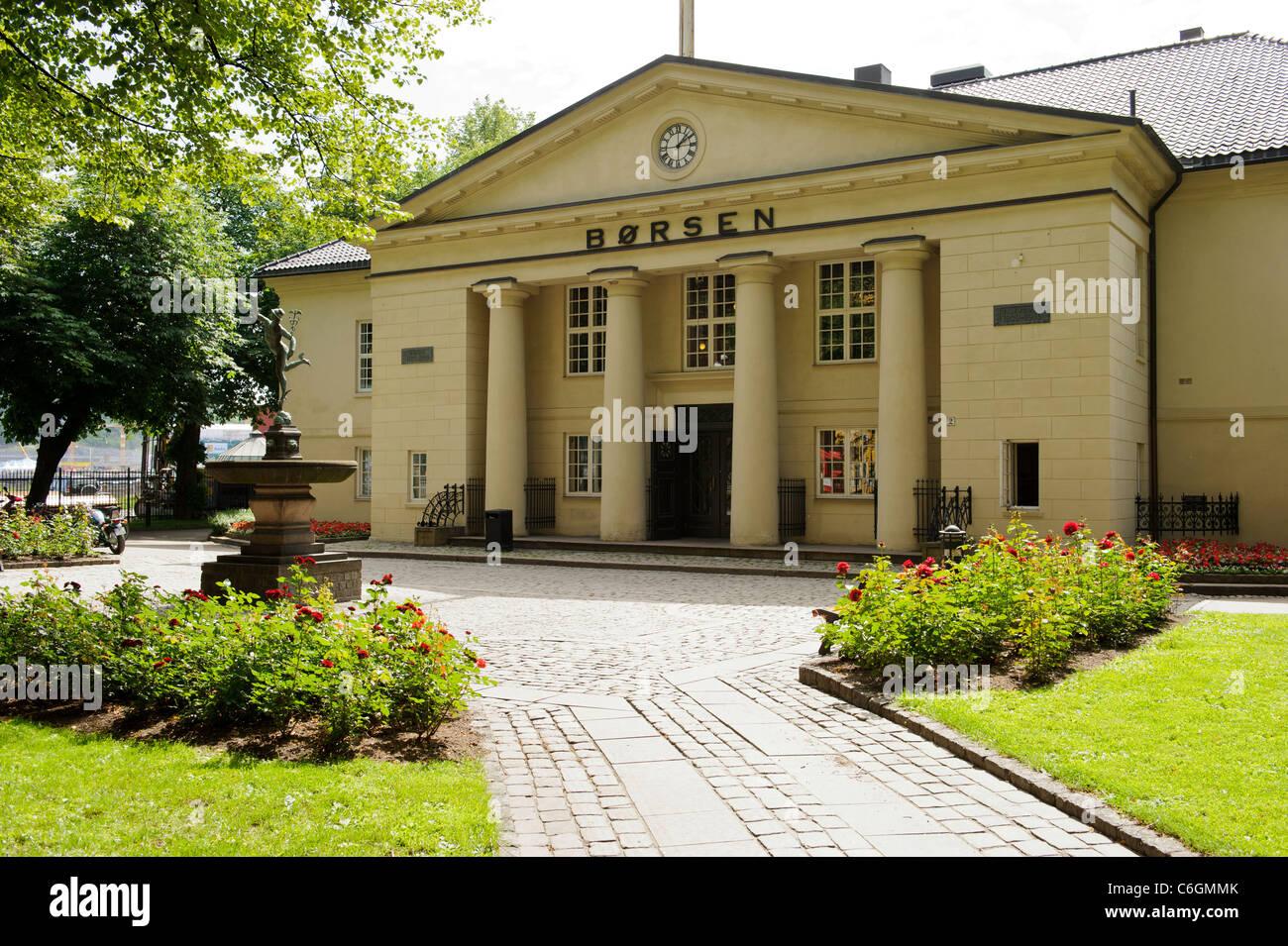 Oslo Borsen - Stock Image