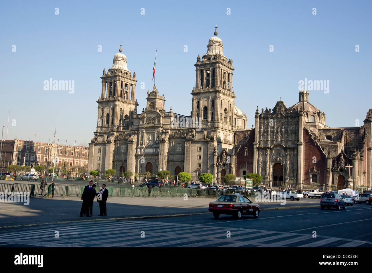 Historic Metropolitan Cathedral in Mexico City - Stock Image