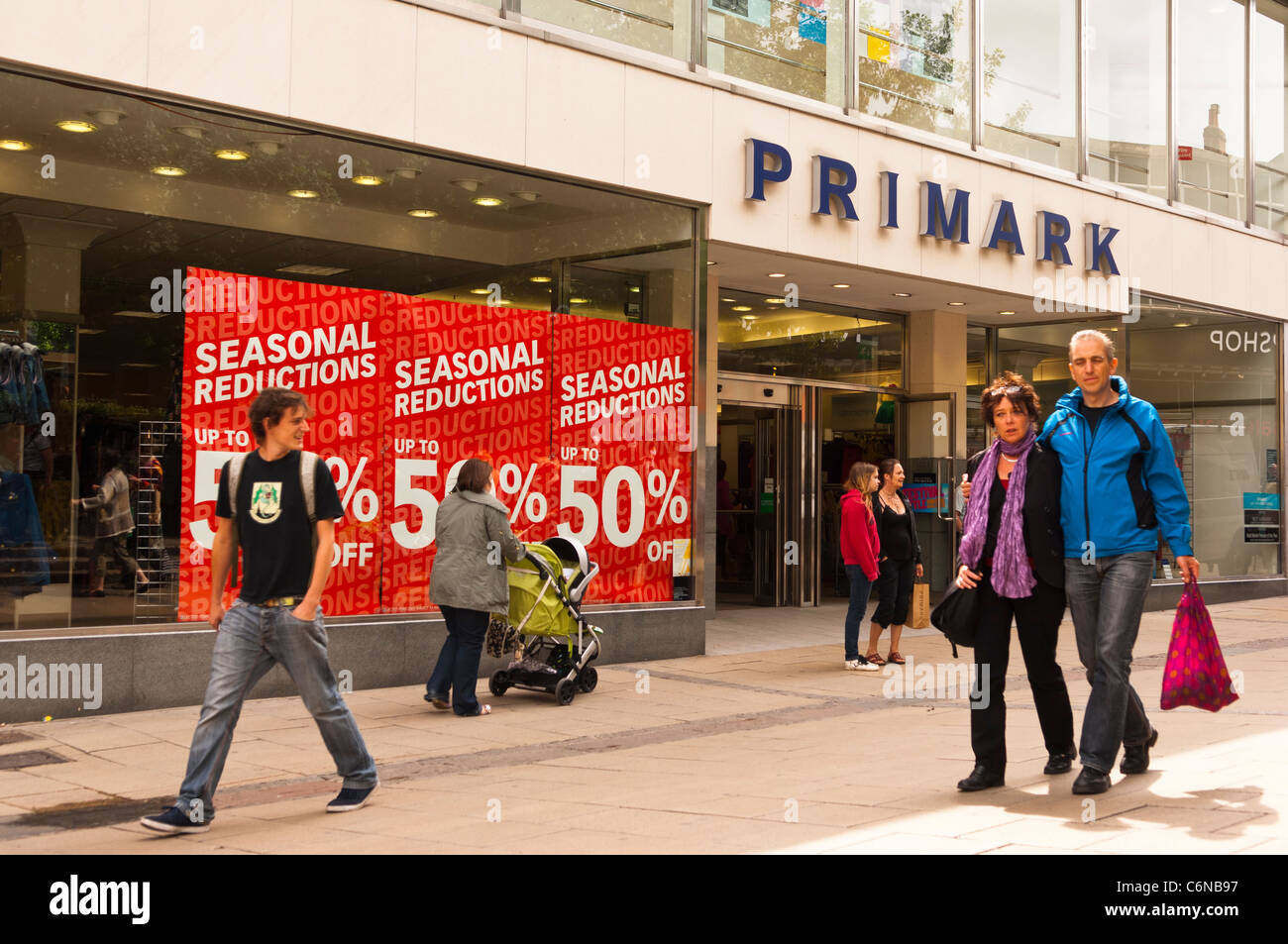 The Primark Shop Store With A Sale On In Norwich , Norfolk , England ,  Britain