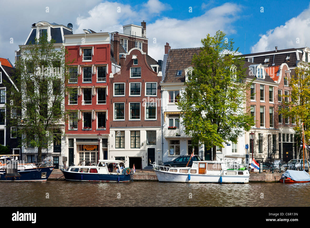 Europe, Netherlands, Amstel Canal in Amsterdam - Stock Image