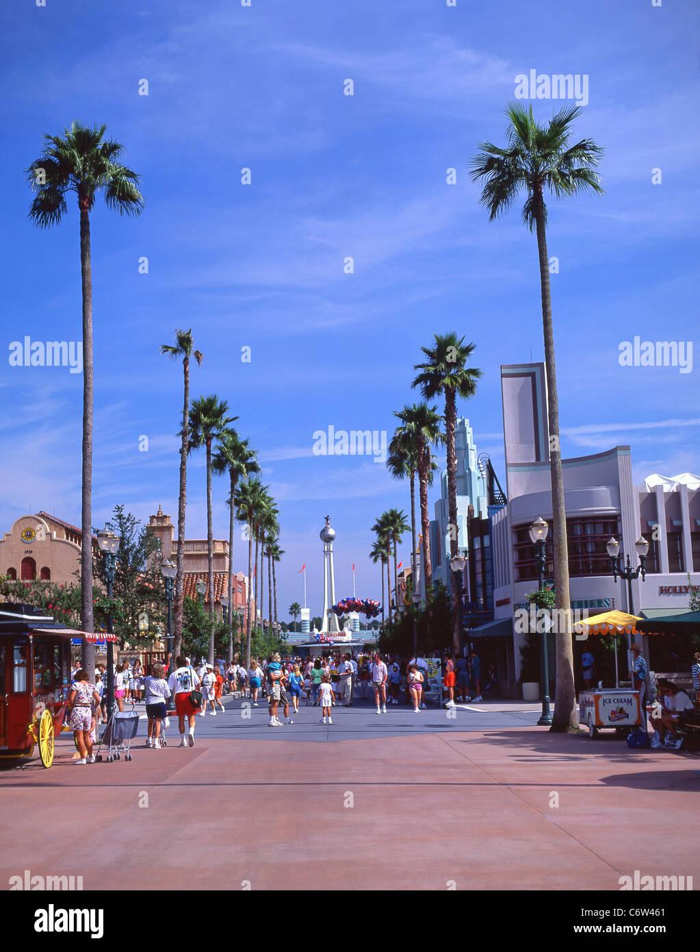 Hollywood Boulevard, Disney MGM Studios, Orlando, Florida, United States of America - Stock Image