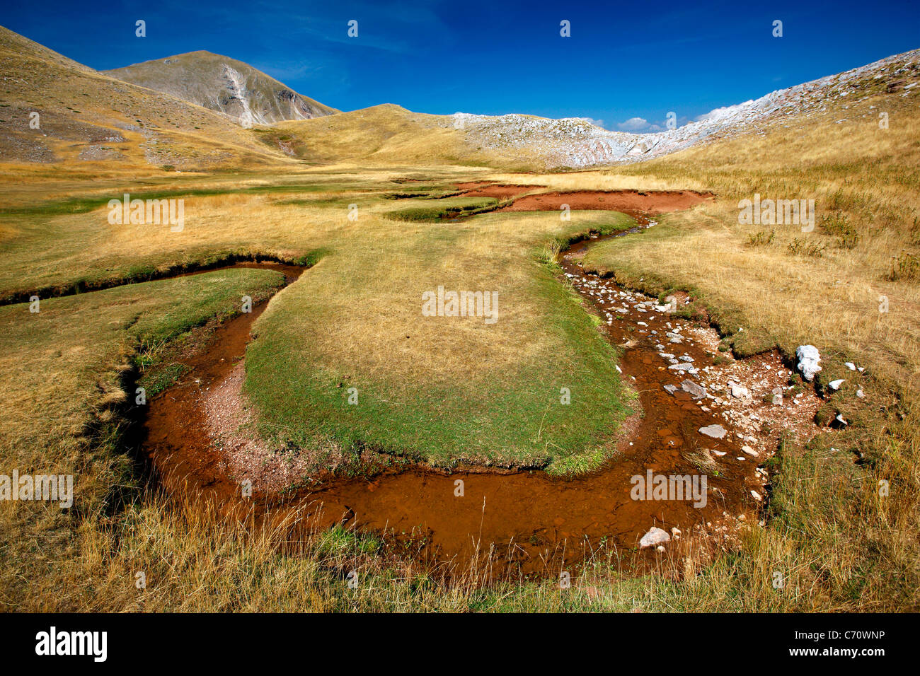 Verliga, the sources of Acheloos (also know as 'Aspropotamos') region, Pindos mountain range, Trikala, Thessaly, - Stock Image
