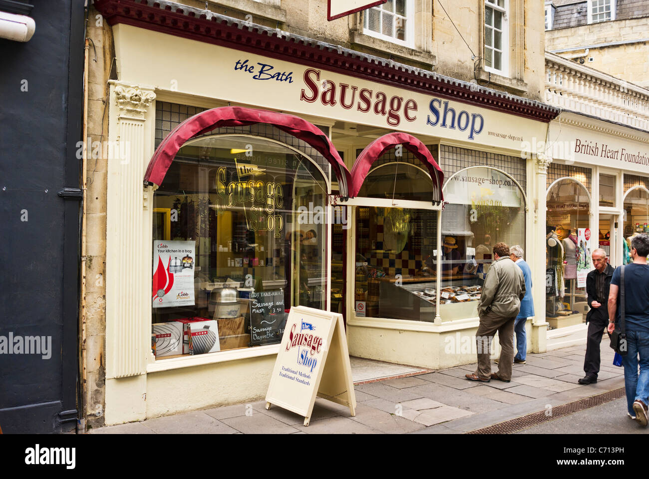 The Bath Sausage Shop UK Stock Photo: 38748265 - Alamy