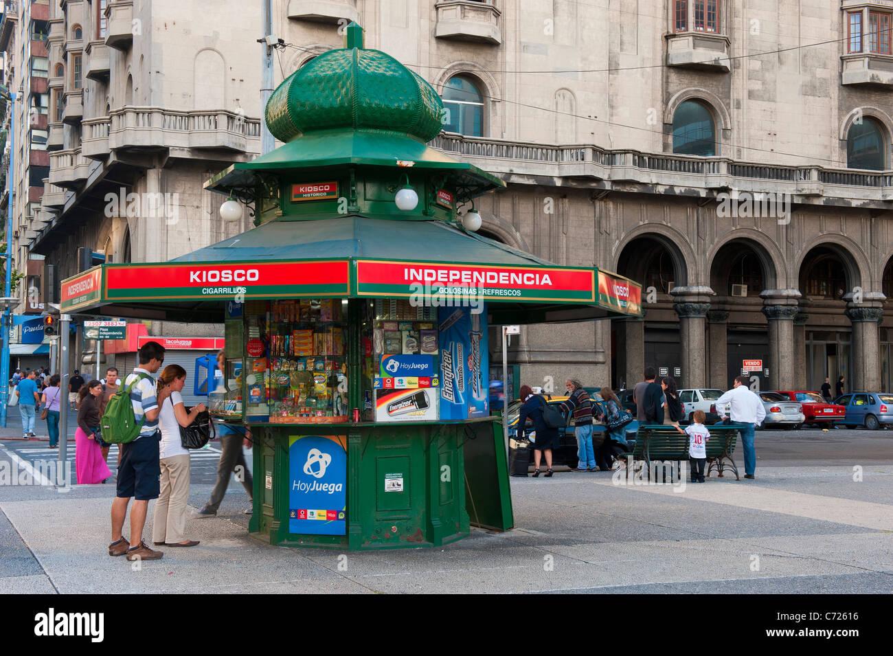 Plaza Independencia, Kiosk, Montevideo, Uruguay - Stock Image