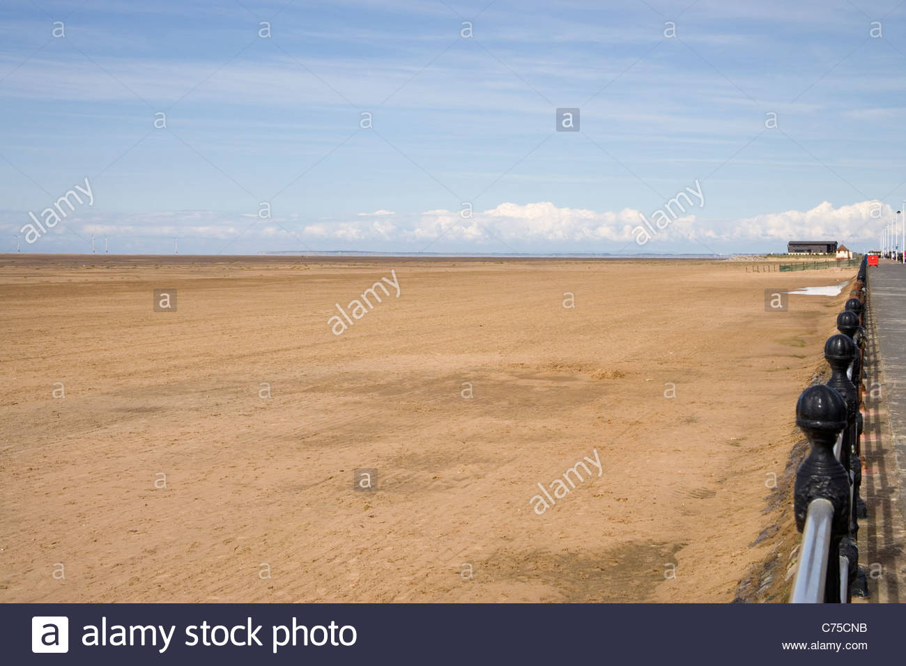 Hoylake on the wirral coast Stock Photo