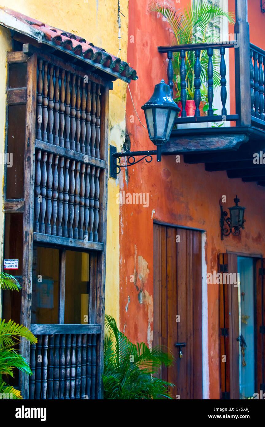 The architecture of 'Cartagena de indias' Colombia - Stock Image