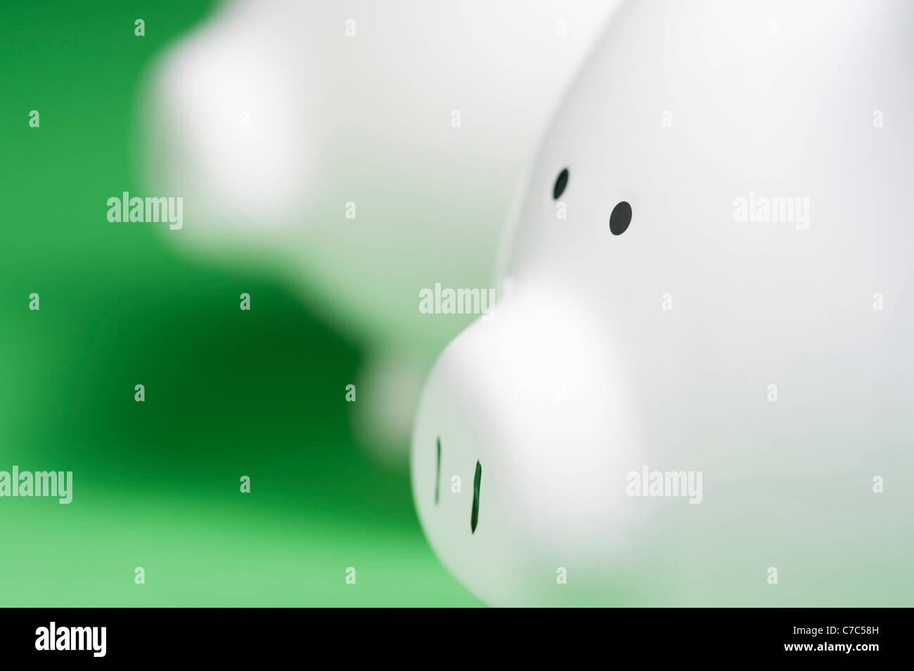 Close up of Piggy bank - Stock Image