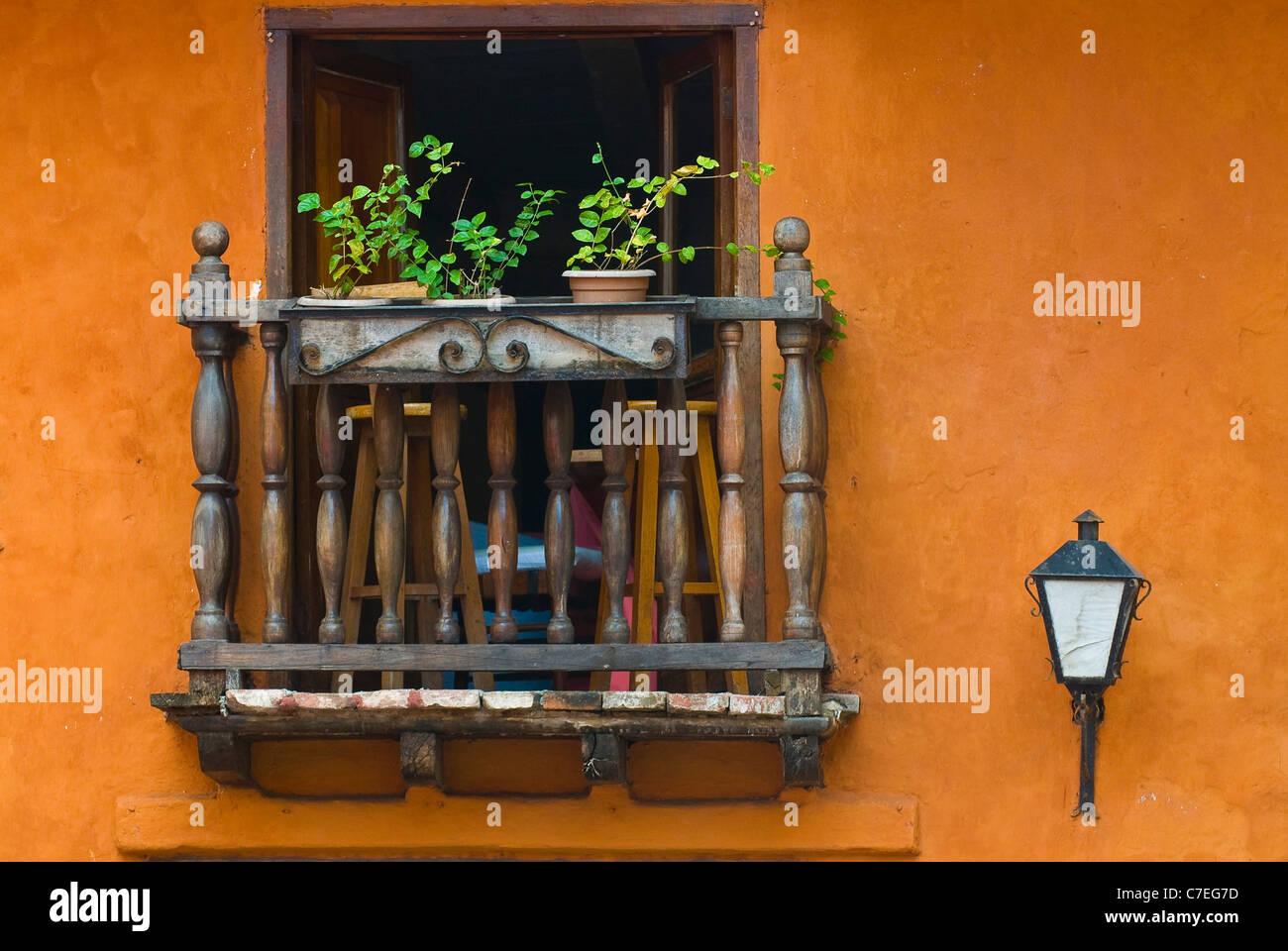 The architecture of  Cartagena de indias Colombia - Stock Image