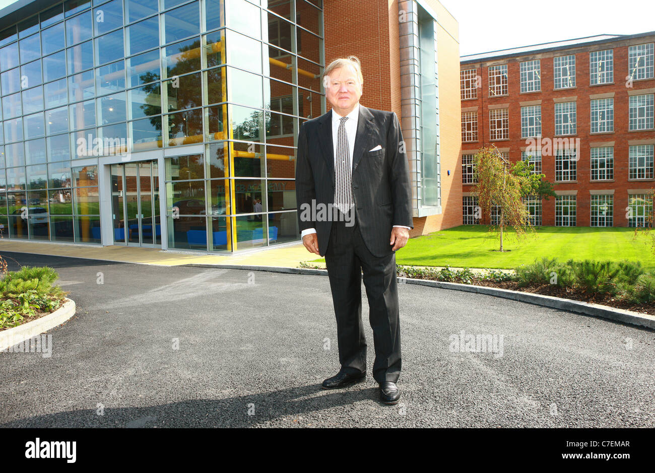 The New JCB Academy in Rocester which opened 2/9/2010. Founder and JCB Chairman Sir Anthony Bamford. Photo by Fabio - Stock Image