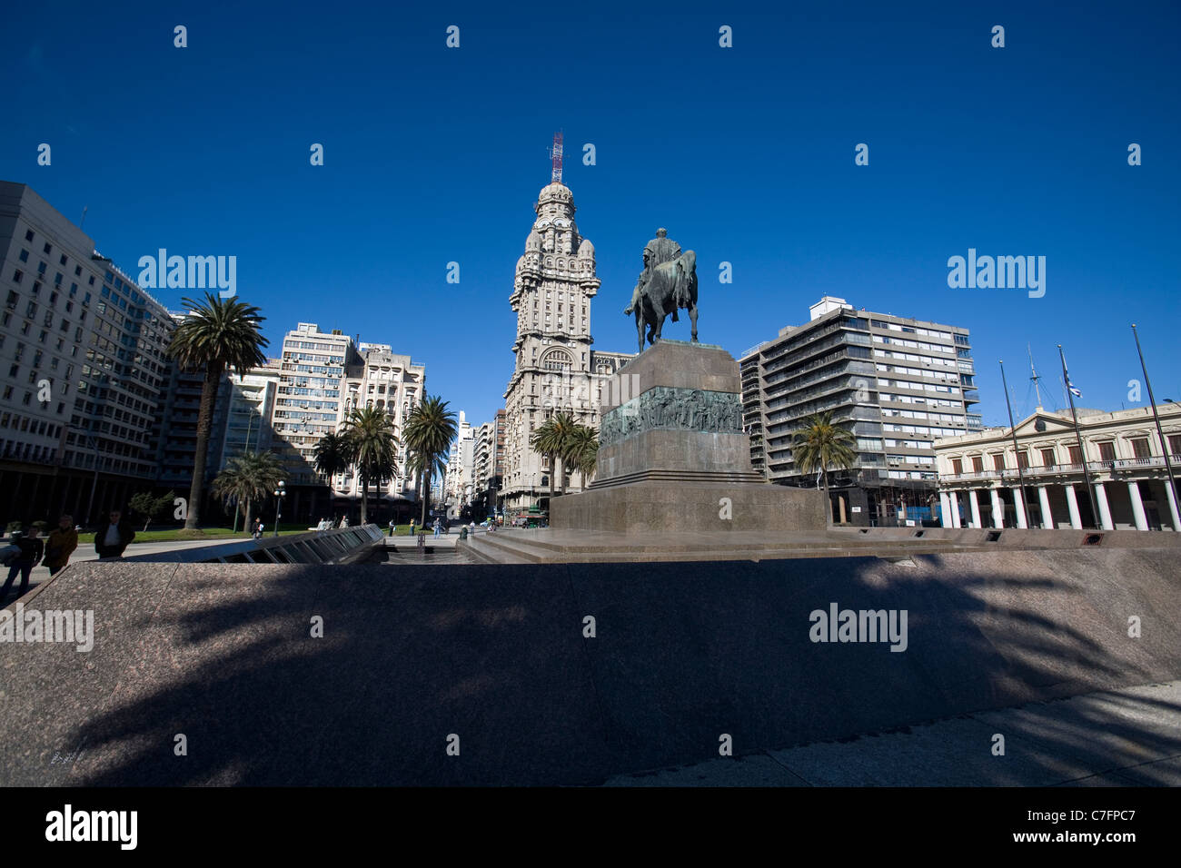 Plaza Independecia, Montevideo Uruguay - Stock Image